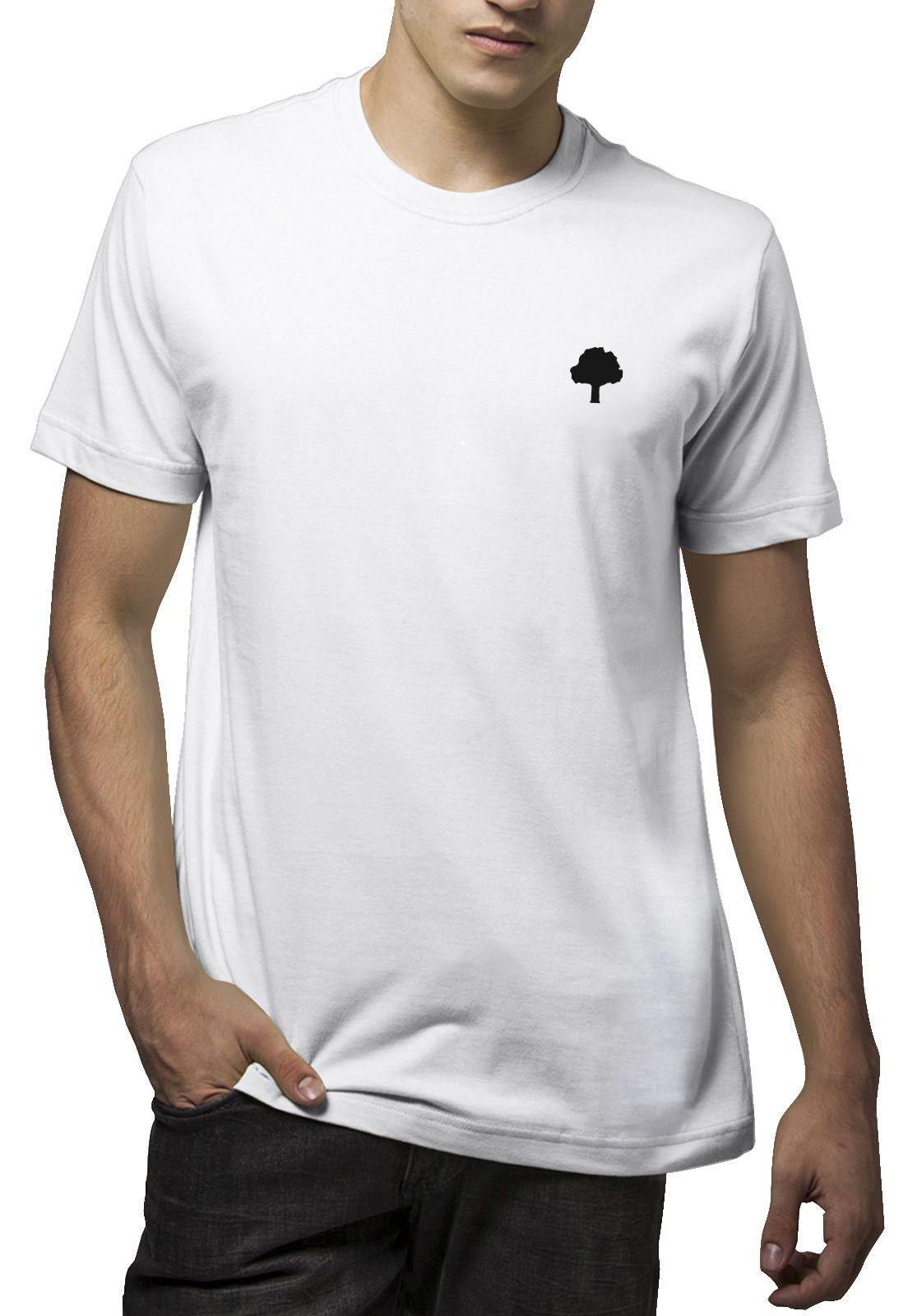 Camiseta Amazônia Degradê Logo - Branco