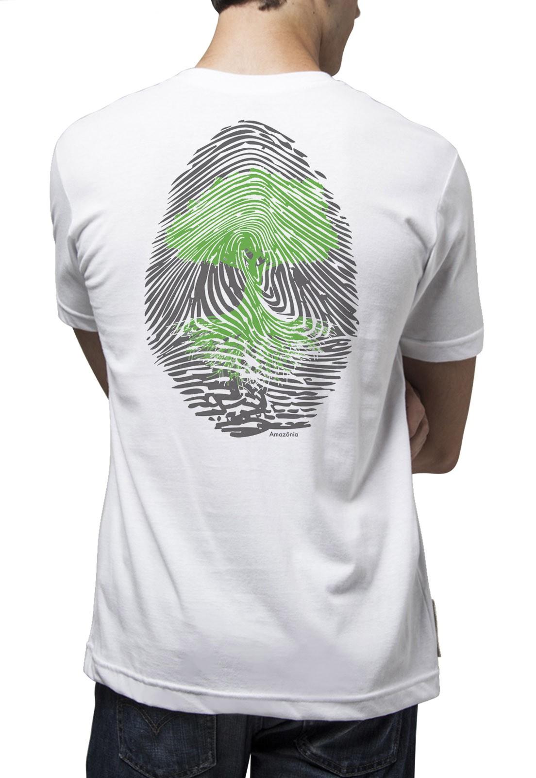 Camiseta Amazônia Digital Árvore - Branco