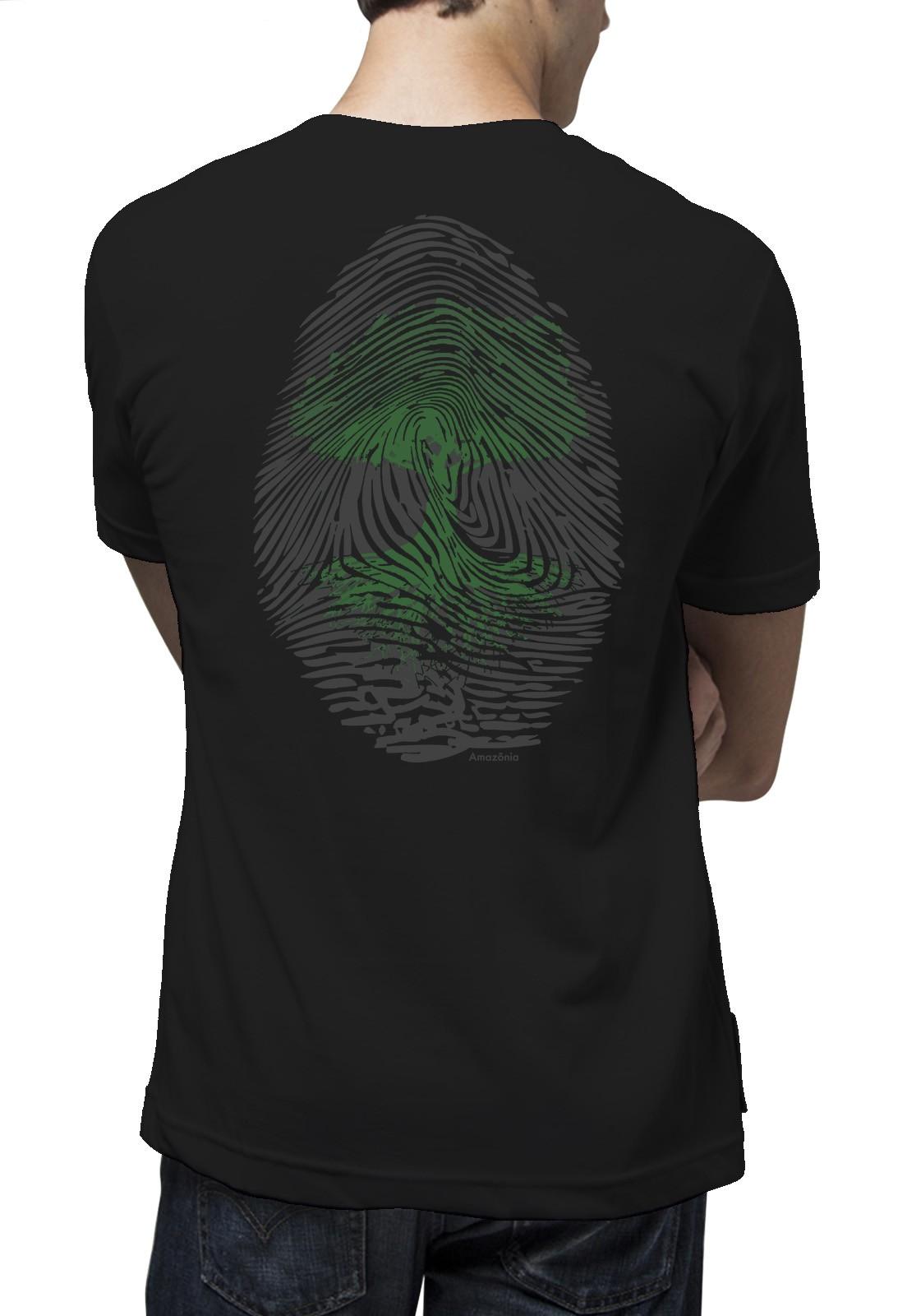 Camiseta Amazônia Digital Árvore - Preto