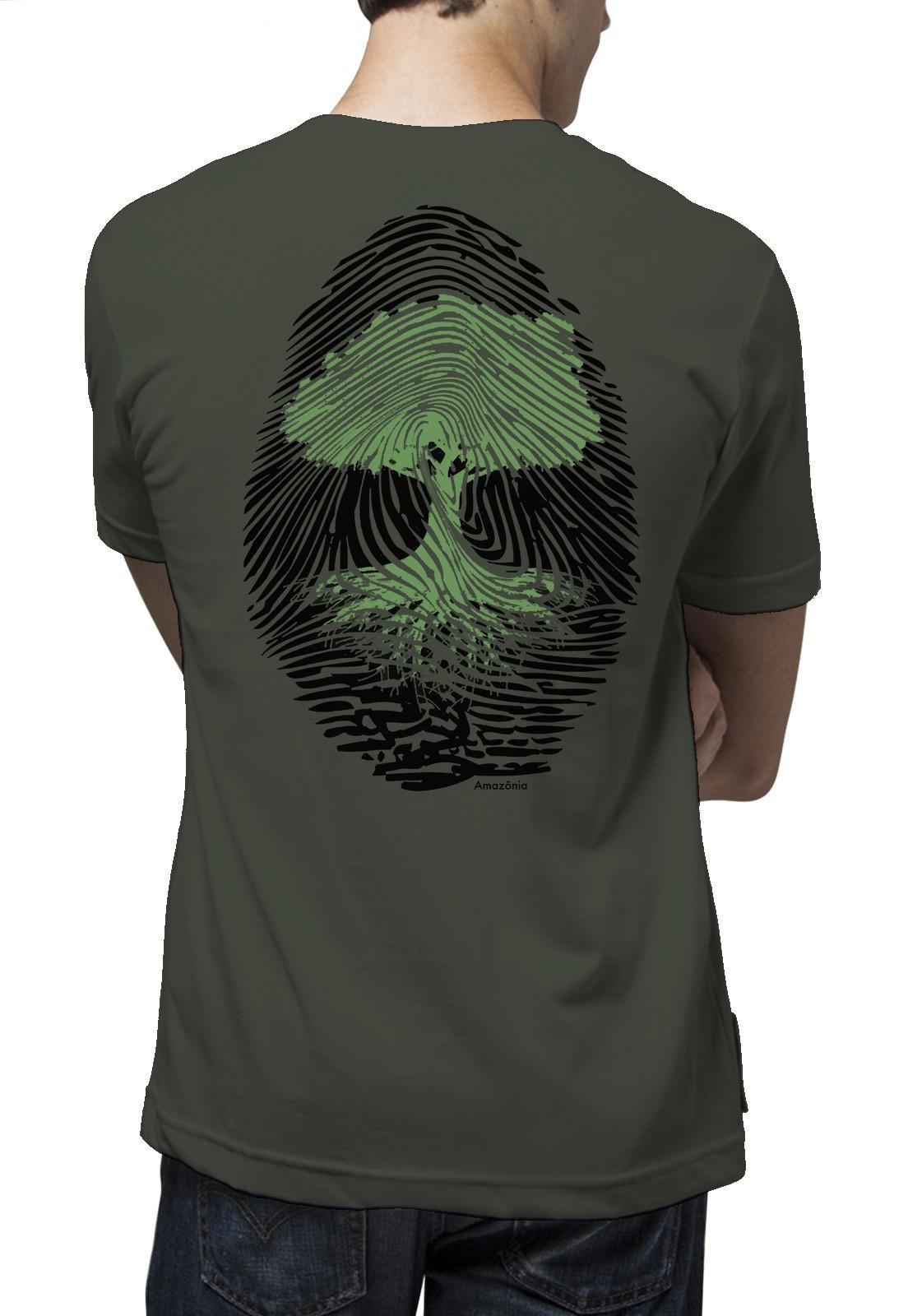 Camiseta Amazônia Digital Árvore - Verde Escuro
