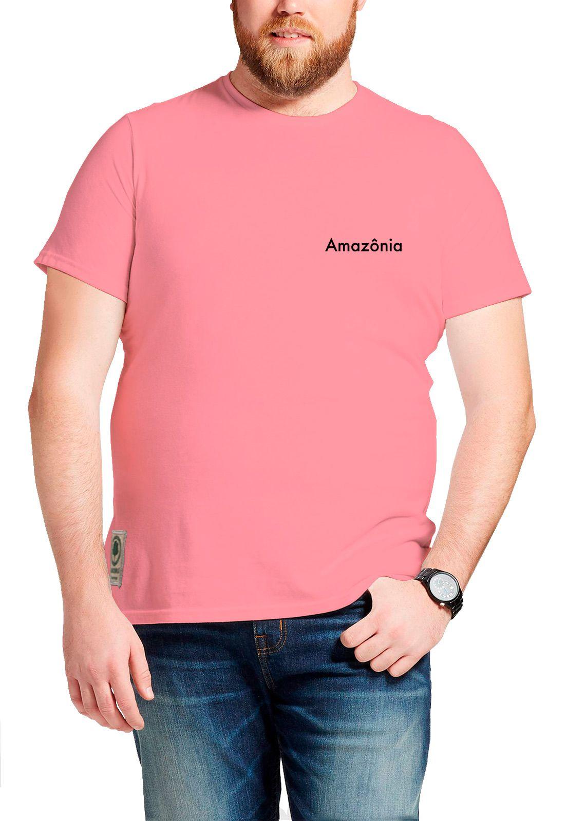 Camiseta Amazônia Dry Tree - Rosa
