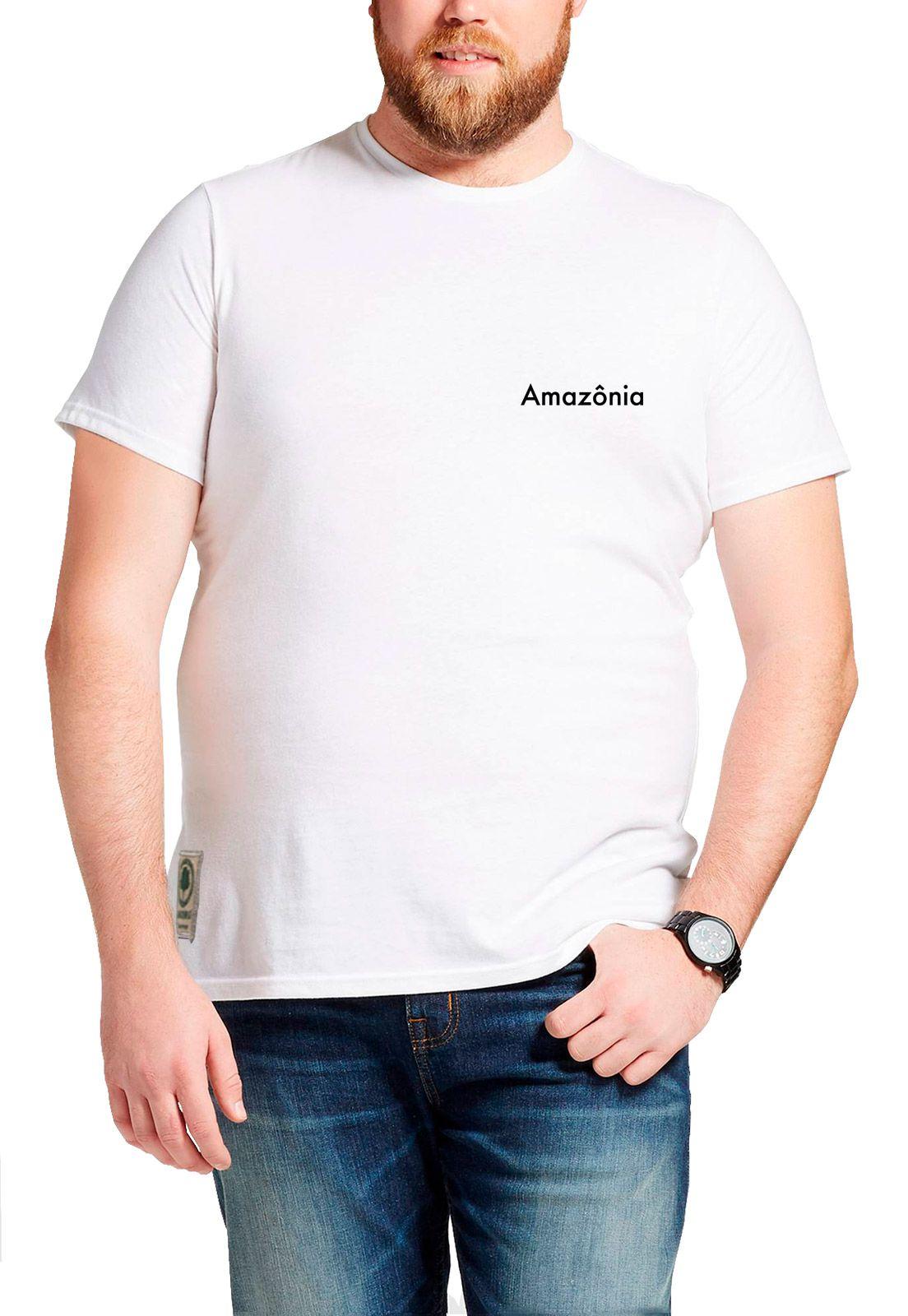 Camiseta Amazônia Duas Araras - Branco