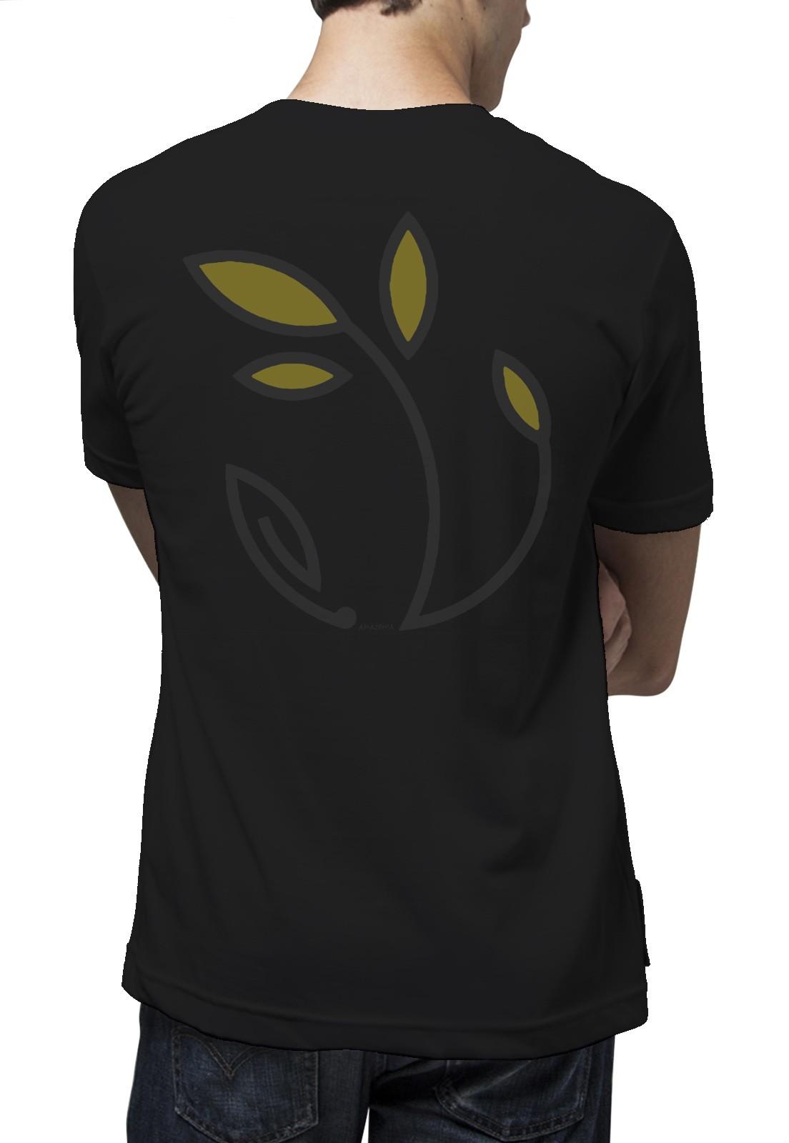 Camiseta Amazônia Eu Refloresto - Preto