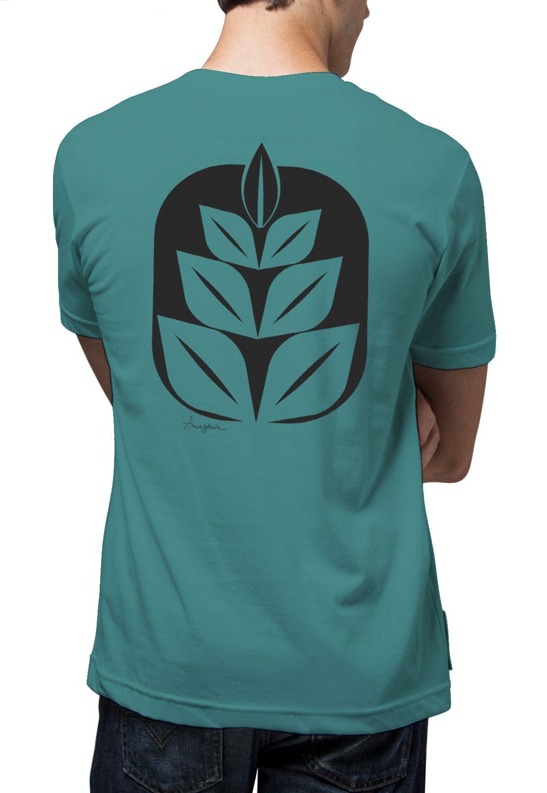 Camiseta Amazônia Flor Cocar - Azul