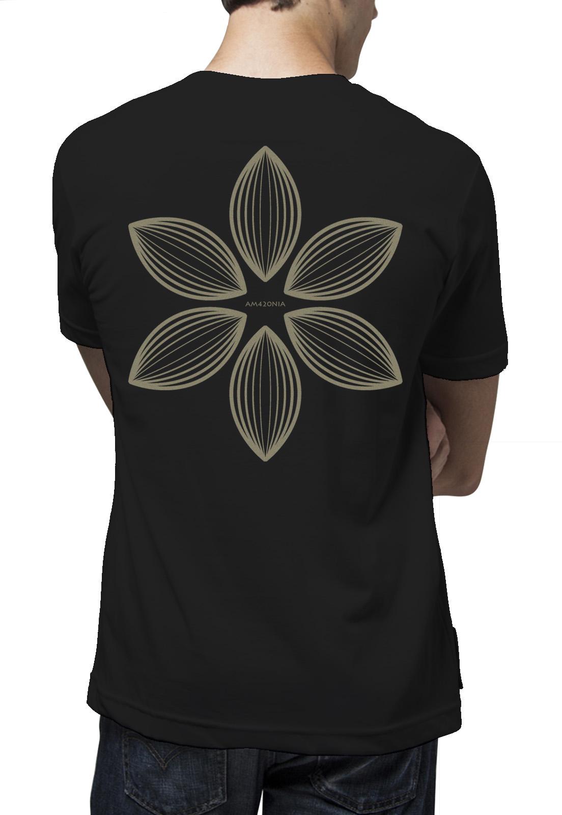 Camiseta Amazônia Flor Maori - Preto