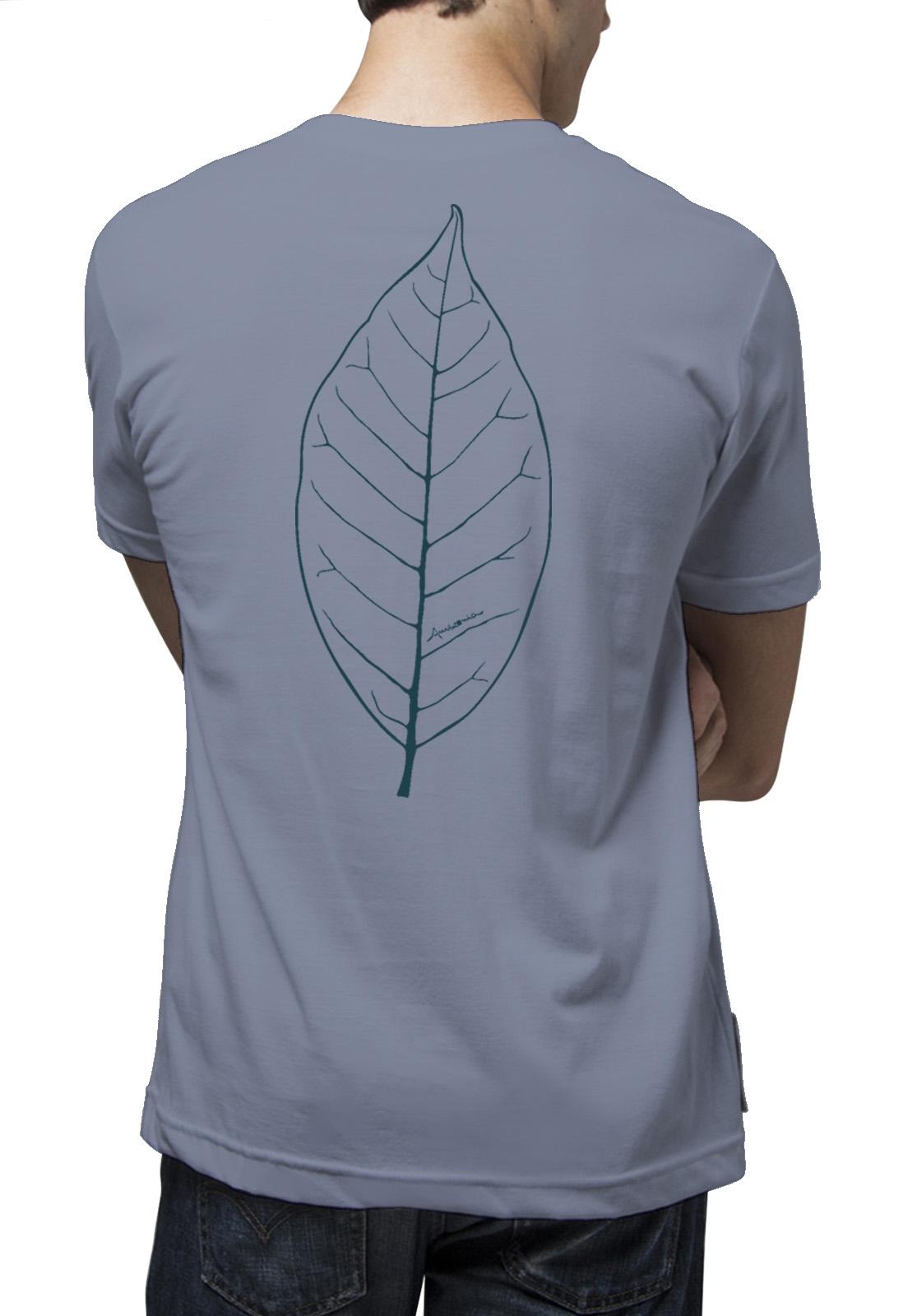 Camiseta Amazônia Folha Traços - Lilás