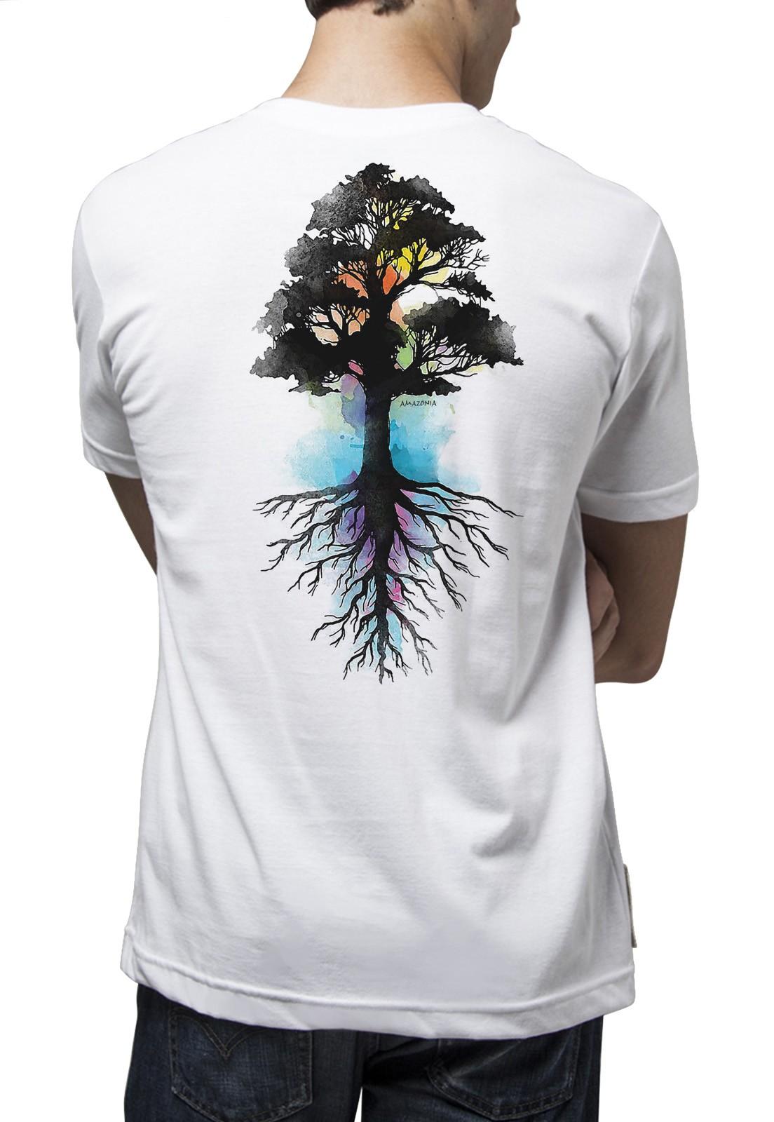 Camiseta Amazônia Força Natural - Branco