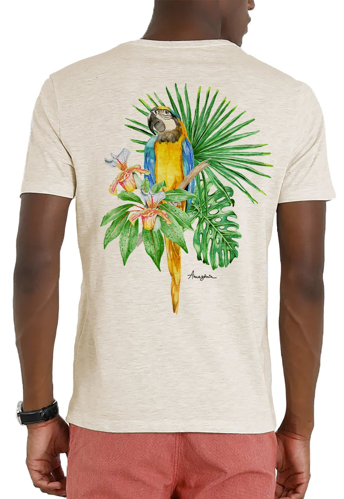 Camiseta Amazônia Garrafa Pet Bio Arara - Off White