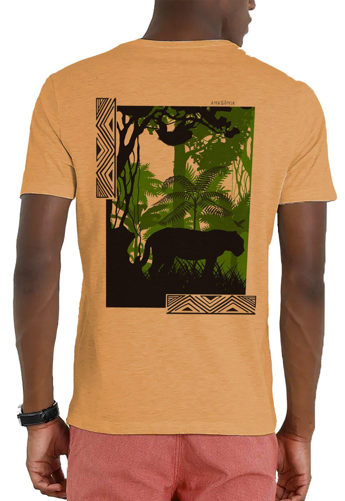 Camiseta Amazônia Garrafa Pet Inside The Jungle - Amarelo