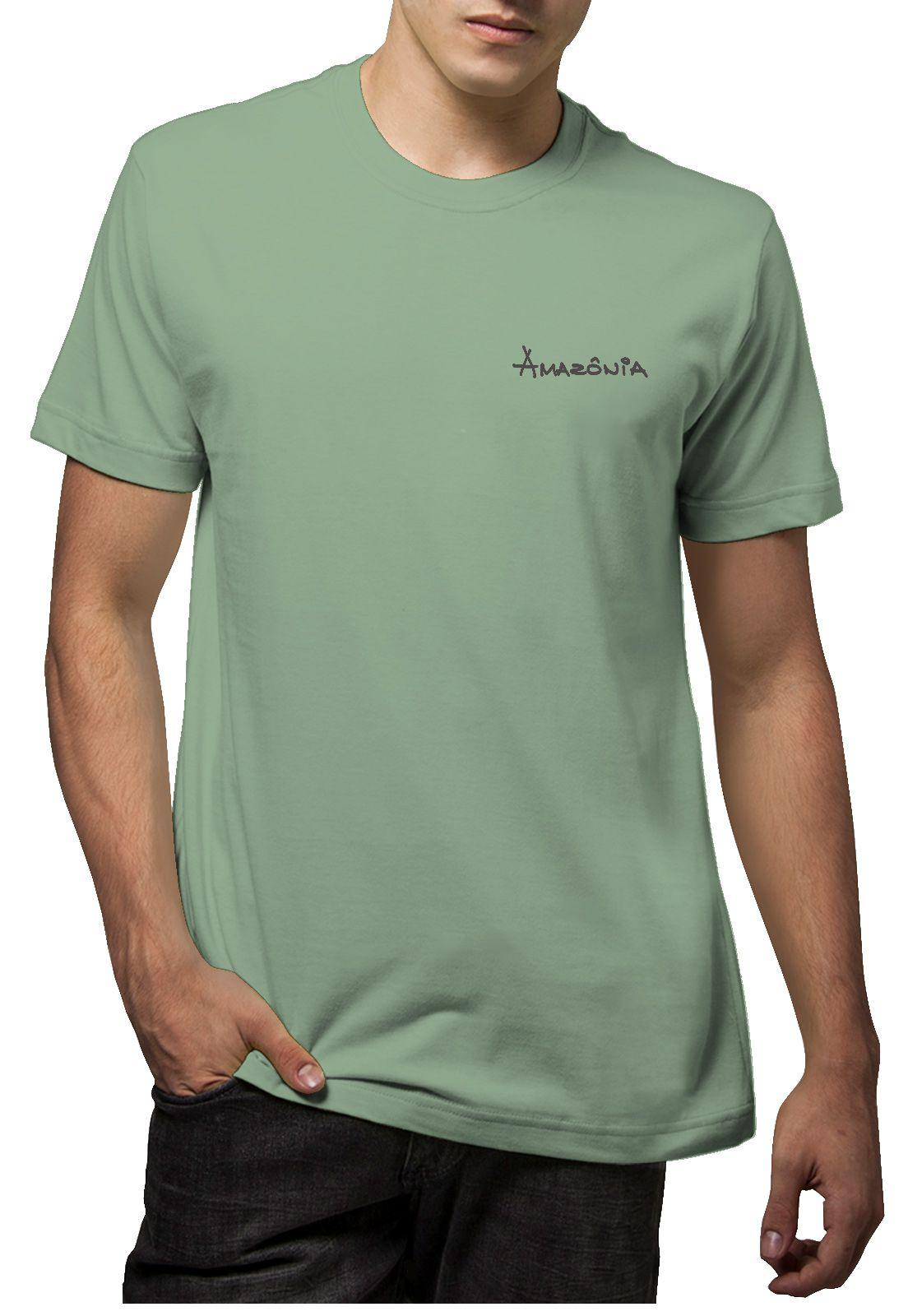 Camiseta Amazônia Gota Árvore - Verde