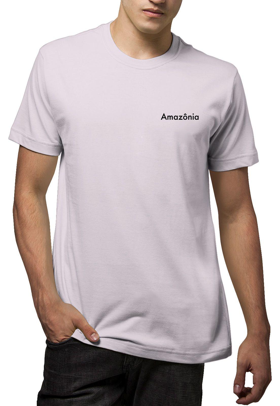 Camiseta Amazônia Gota Indígena - Lilás