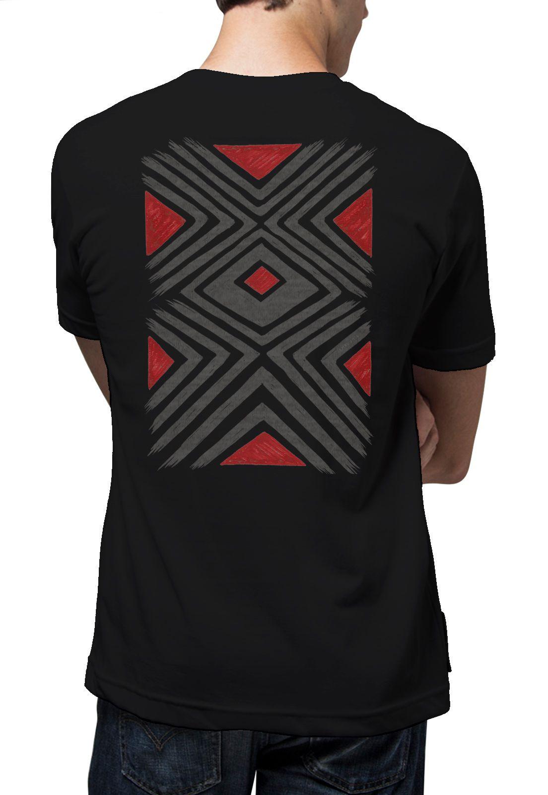 Camiseta Amazônia Grafismo - Preto