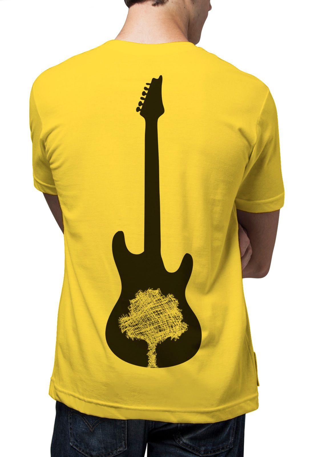 Camiseta Amazônia Guitarra Amazônia - Amarelo