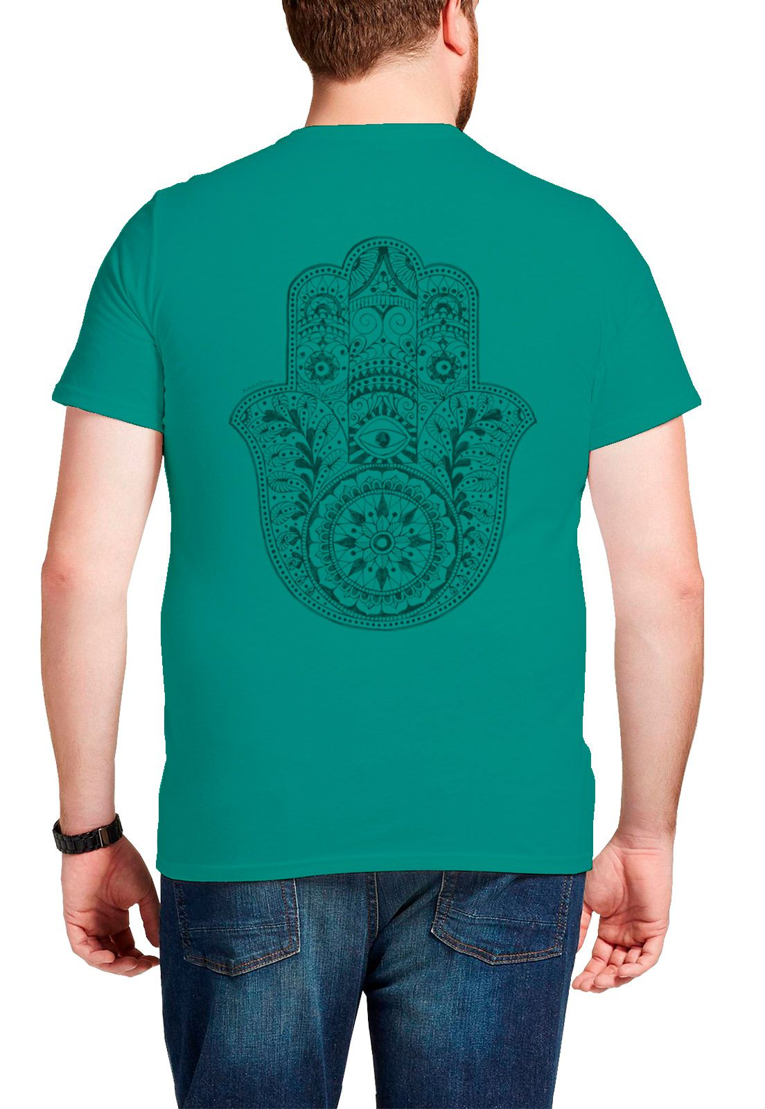 Camiseta Amazônia Hamsa - Azul
