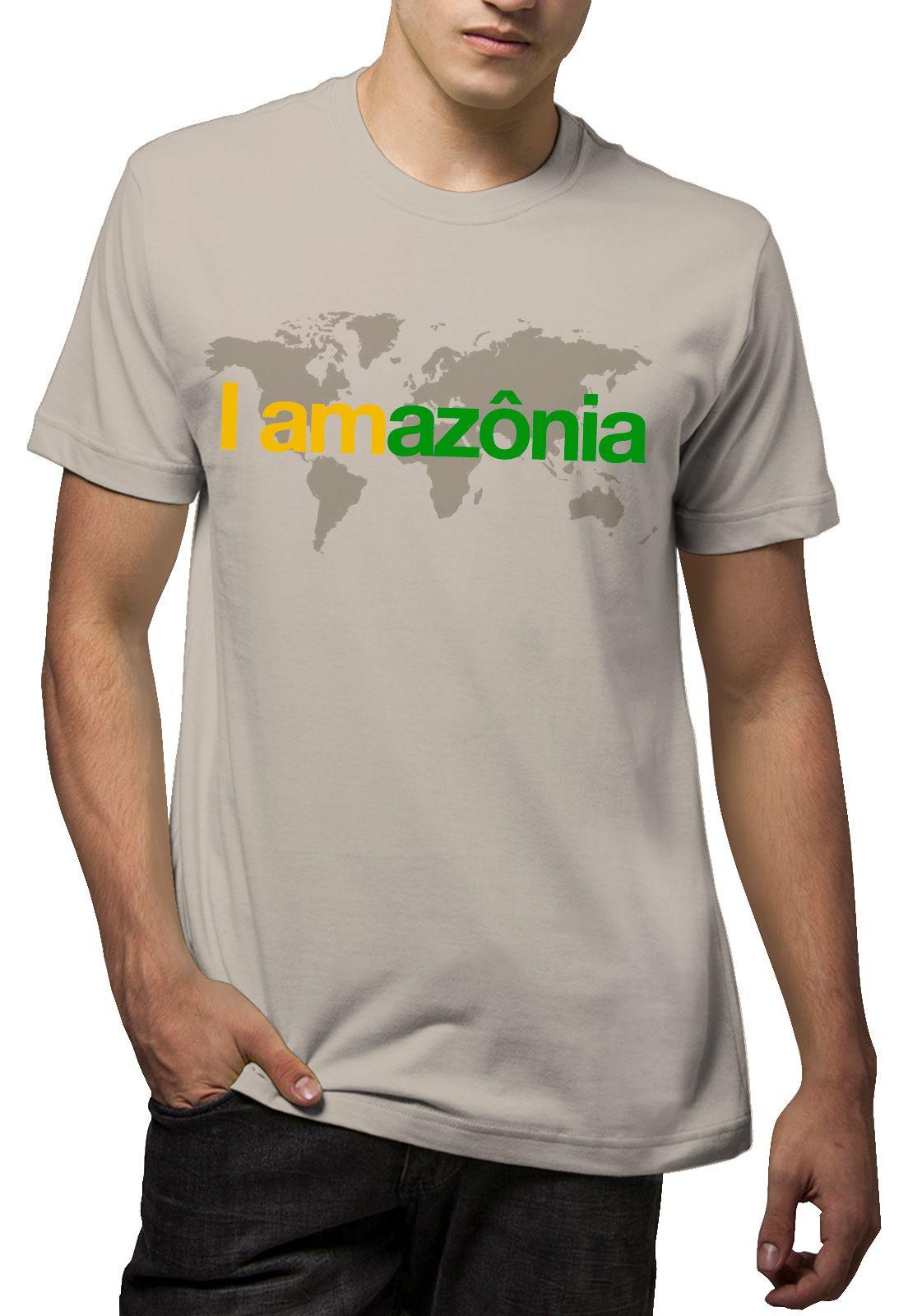 Camiseta Amazônia I Am Amazônia - Bege