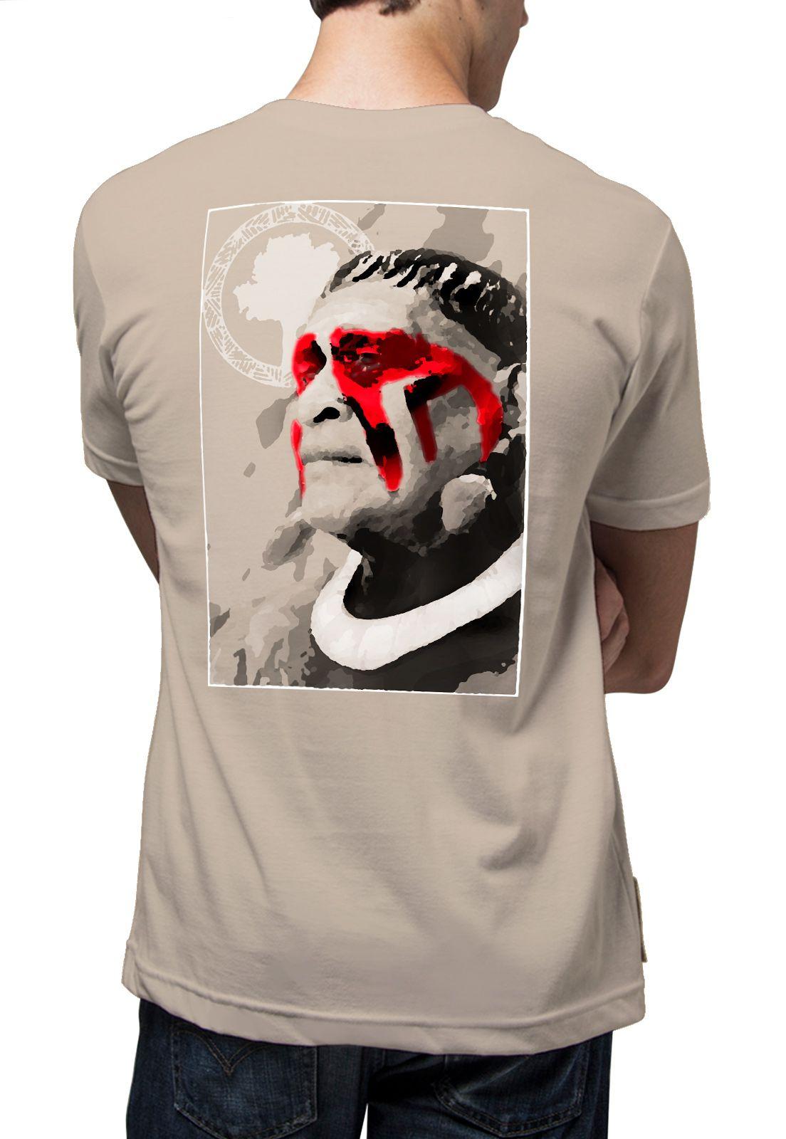 Camiseta Amazônia Índio - Bege