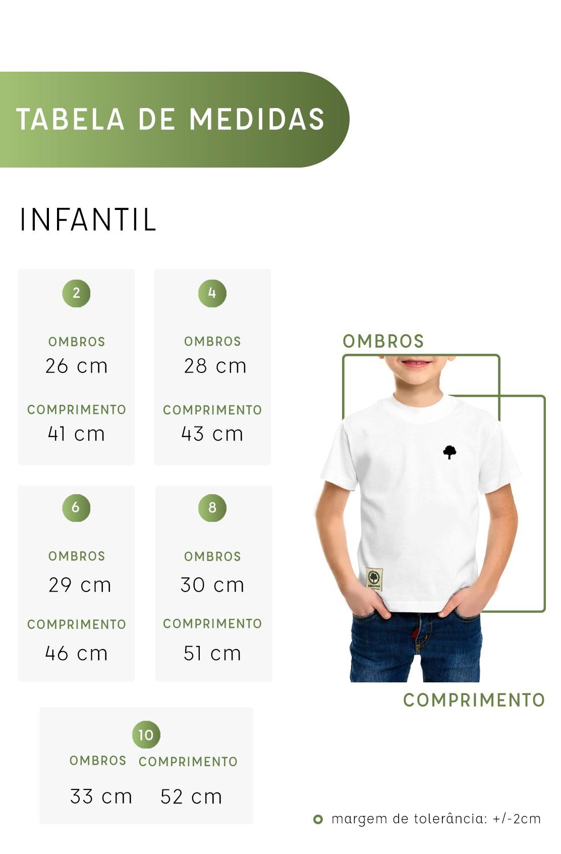 Camiseta Amazônia Infantil Ciclo da Vida - Branco