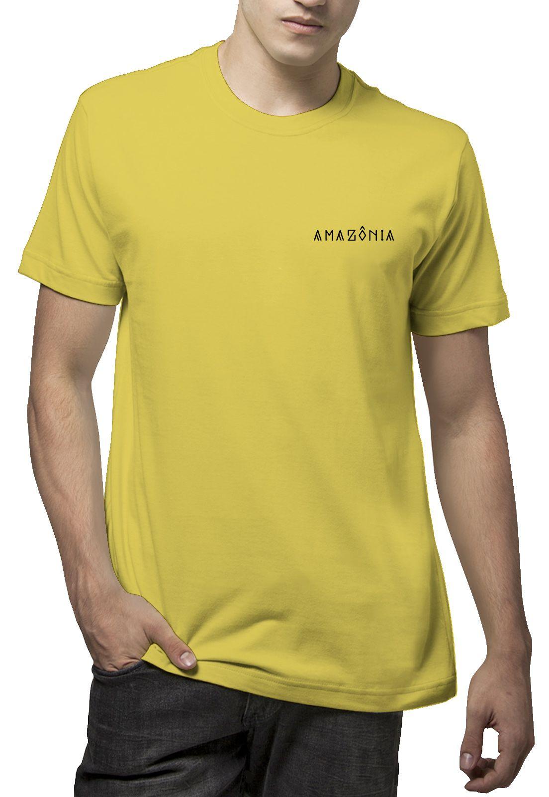 Camiseta Amazônia Ipê Amarelo - Amarelo Claro