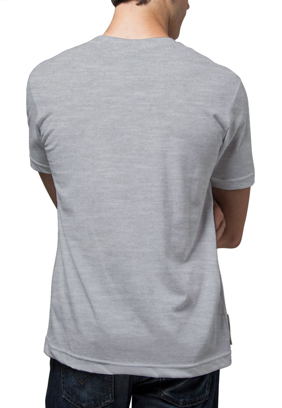 Camiseta Amazônia Leão Rasta - Mescla