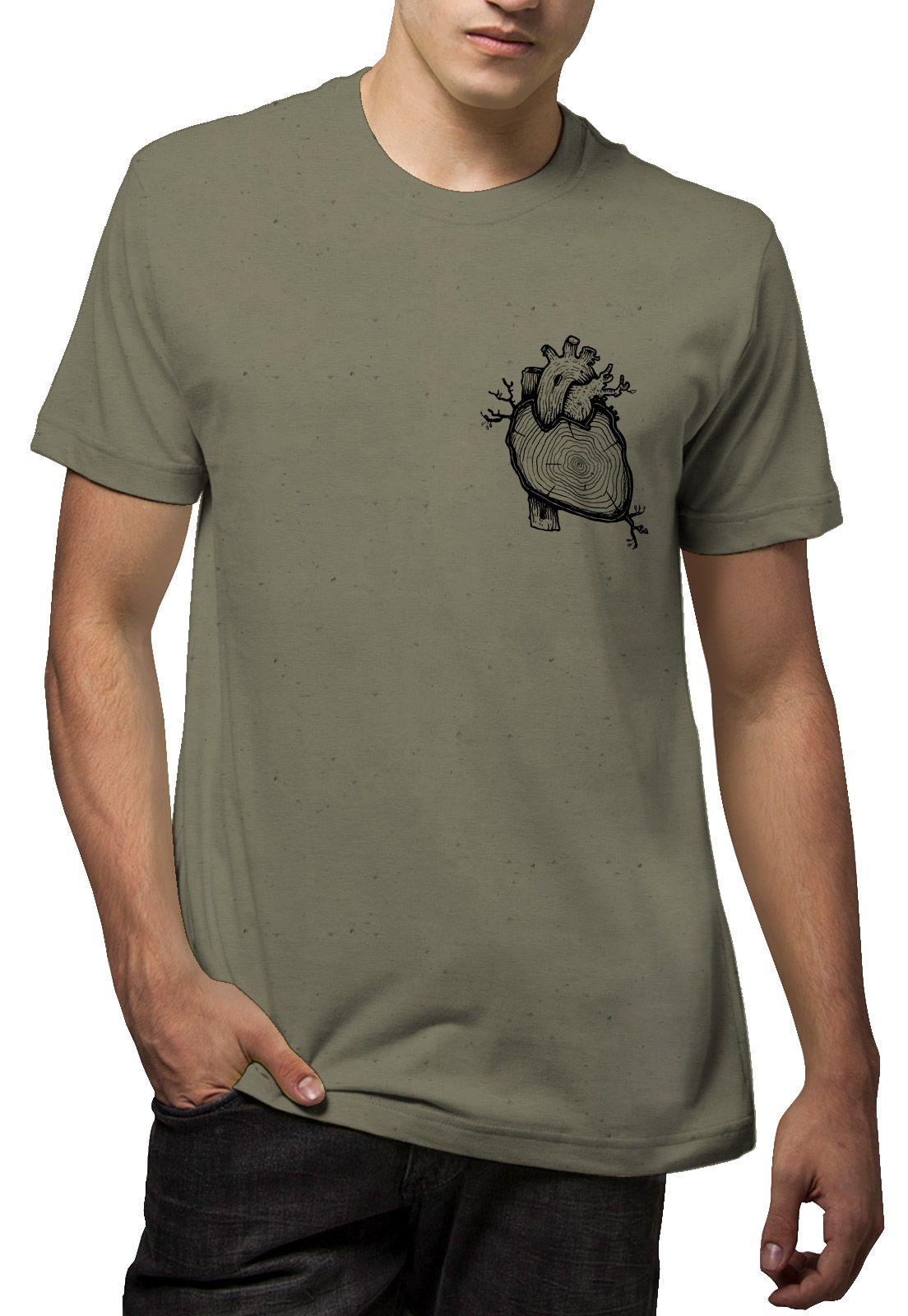 Camiseta Amazônia Linho Coração da Amazônia - Verde