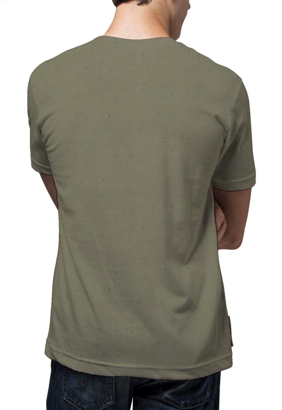 Camiseta Amazônia Linhotex Coração da Amazônia - Verde Escuro