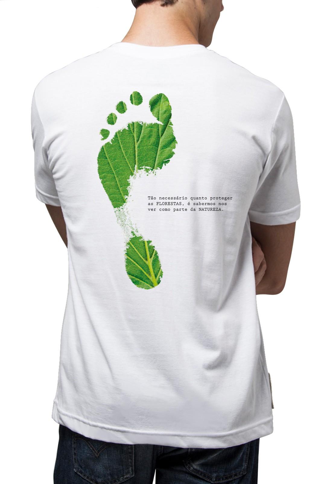 Camiseta Amazônia Pegada Ecológica - Branco
