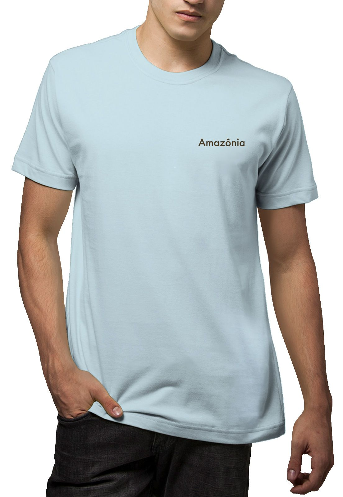Camiseta Amazônia Logo Inverno - Azul Claro