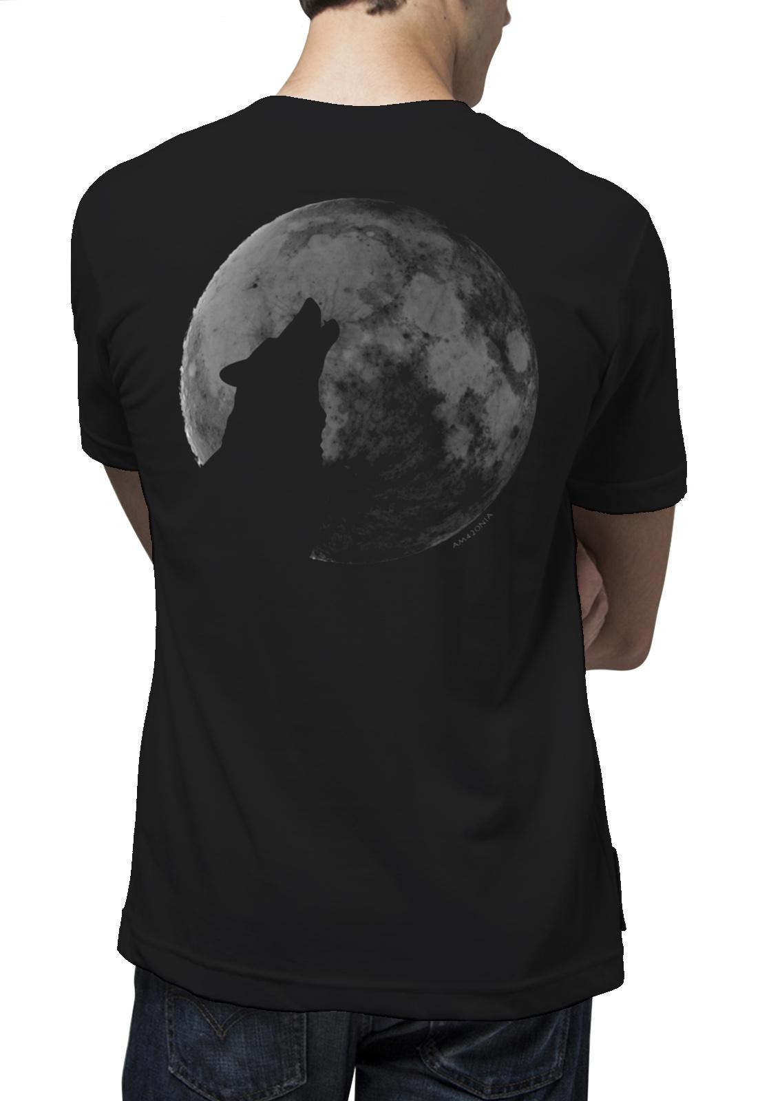 Camiseta Amazônia Lua Cheia - Preto