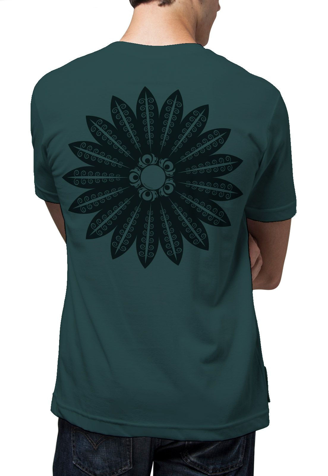 Camiseta Amazônia Mandala Xingu - Cinza