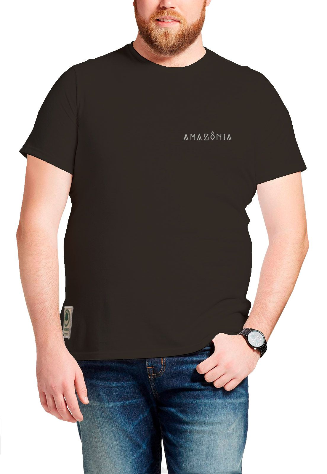 Camiseta Amazônia Mandala Xingu - Cinza Escuro