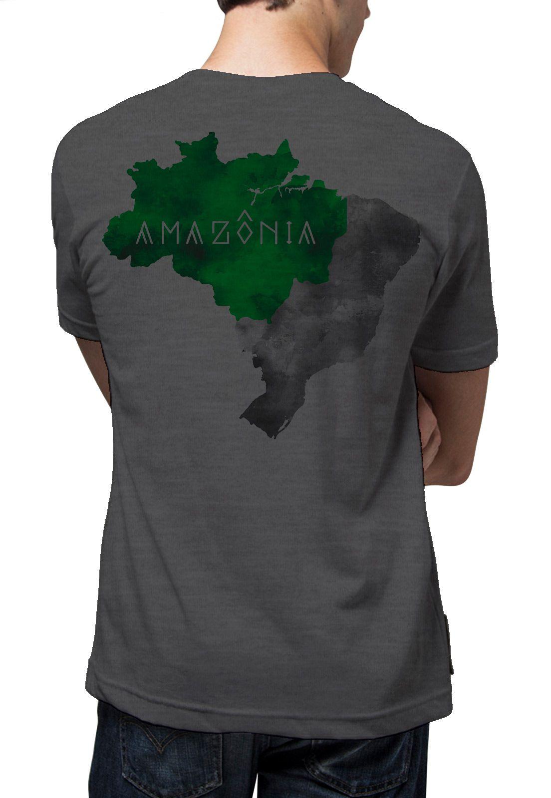 Camiseta Amazônia Mapa Amazônia - Mescla