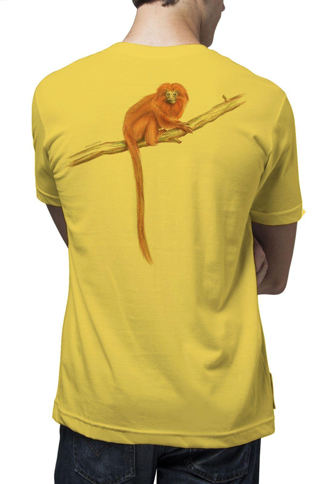 Camiseta Amazônia Mico Leão Dourado - Amarelo Claro