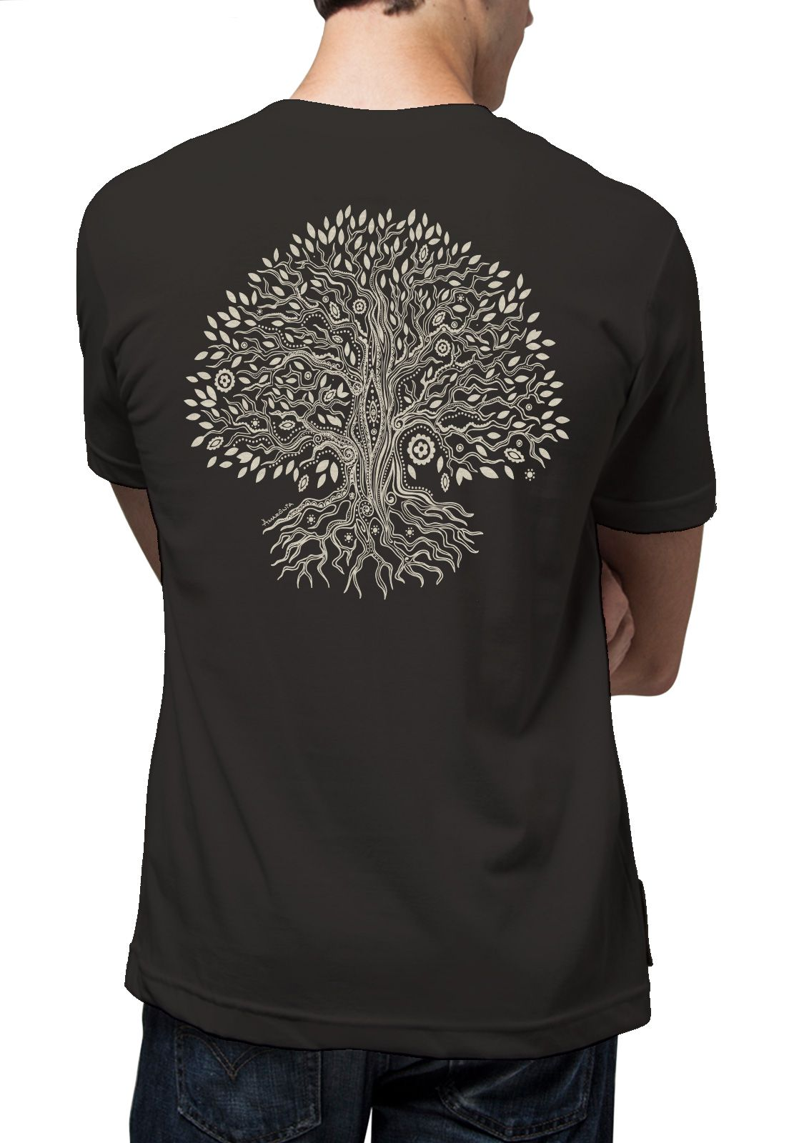 Camiseta Amazônia Mistycal Forest - Cinza Escuro