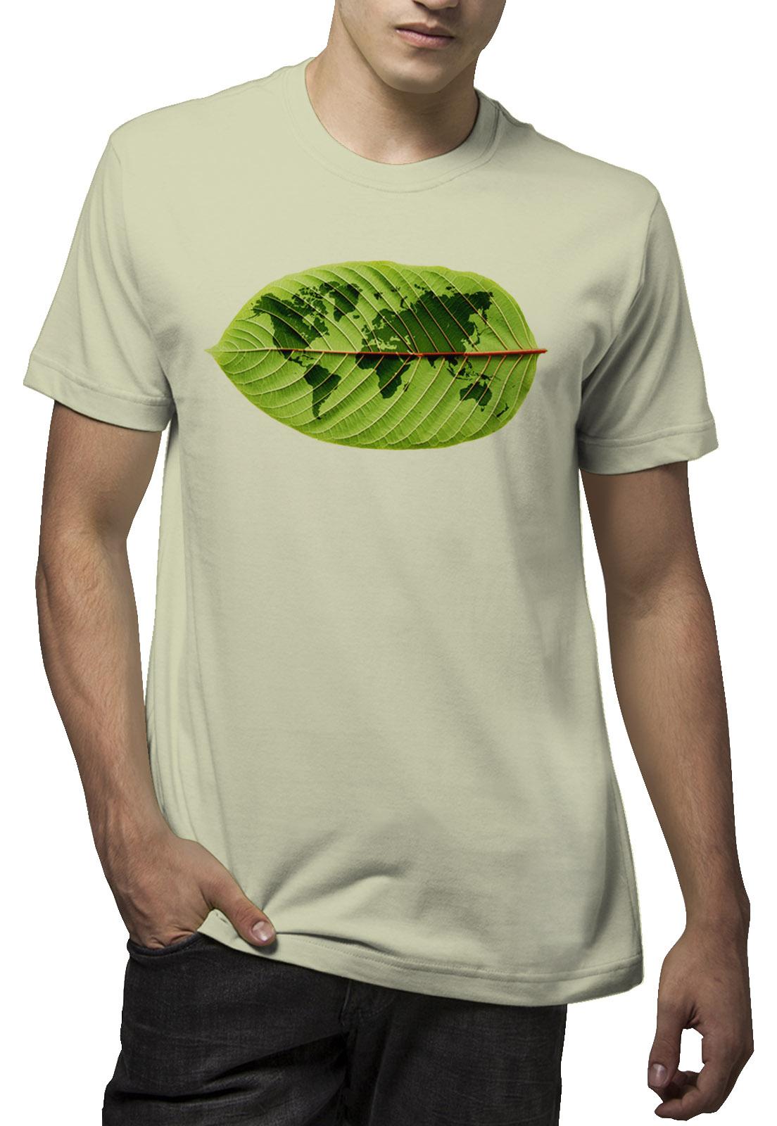 Camiseta Amazônia Mundo Folha - Verde Claro