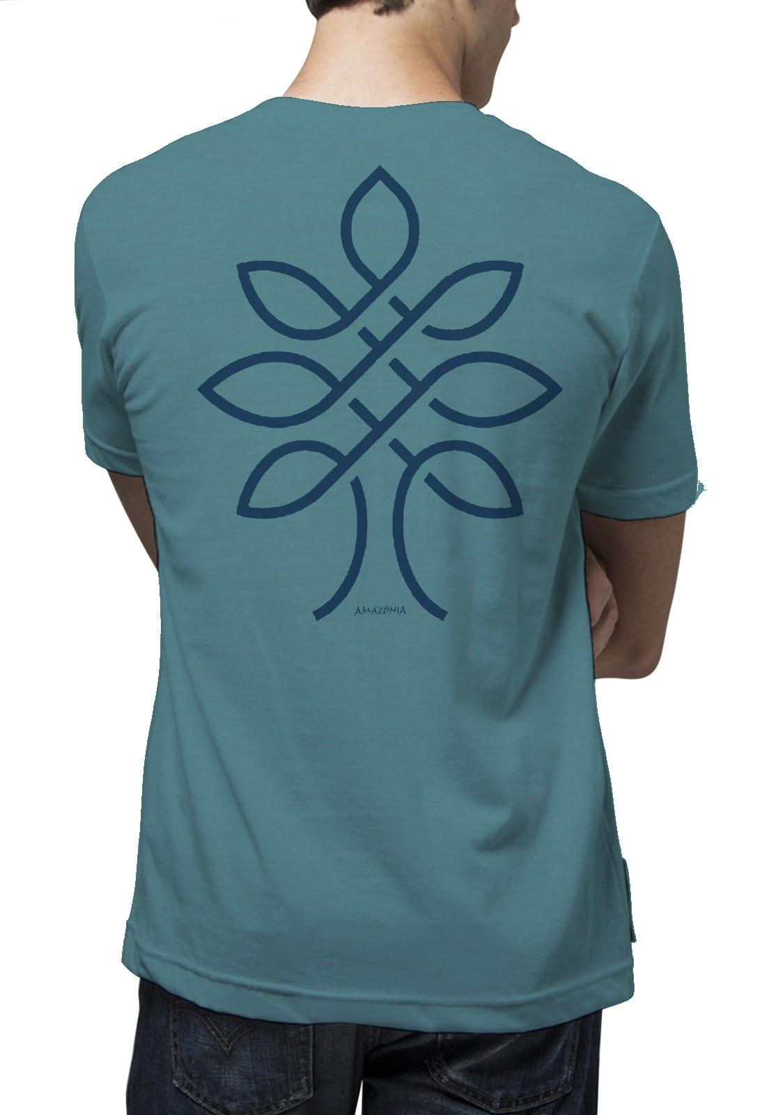 Camiseta Amazônia One Tree - Mescla Azul