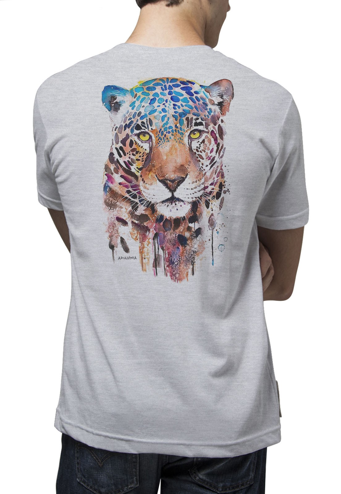 Camiseta Amazônia Paint - Mescla Claro
