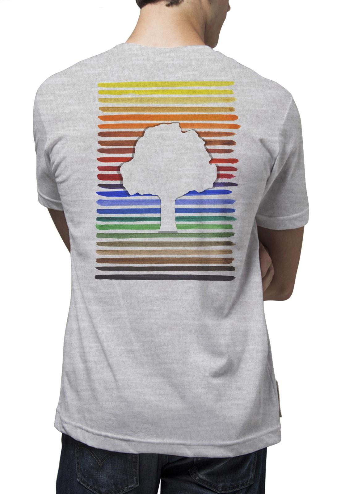Camiseta Amazônia Pantone Logo - Mescla Claro