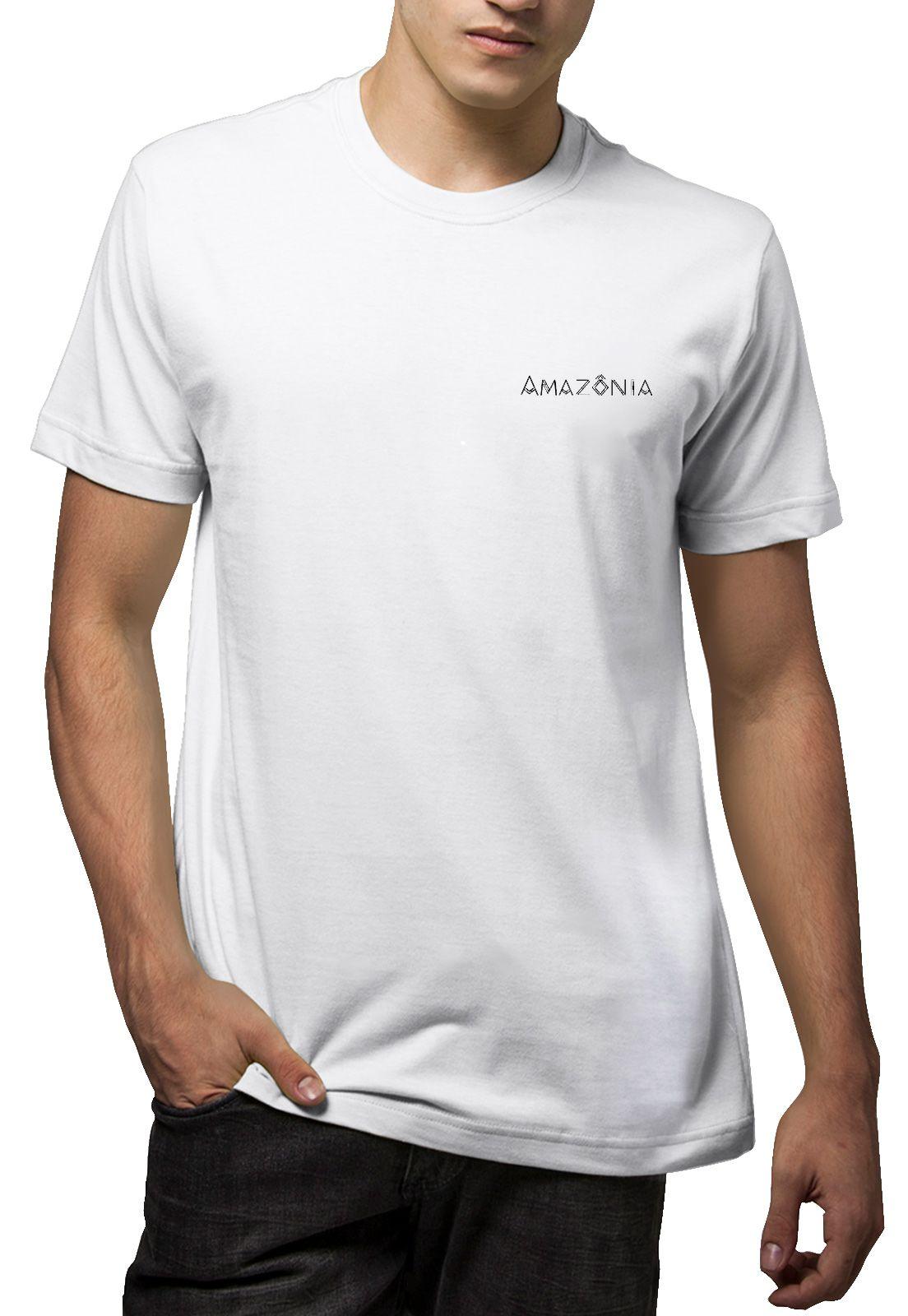 Camiseta Amazônia Pássaros Indígenas - Branco