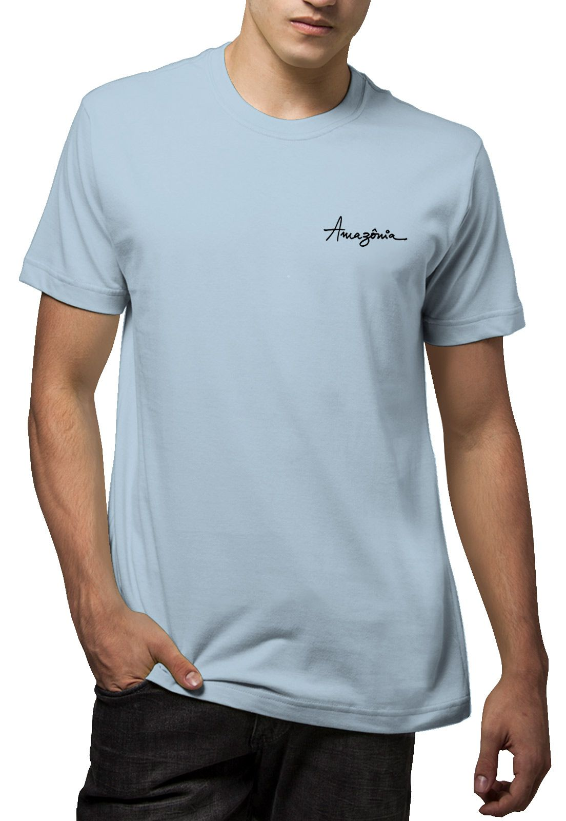 Camiseta Amazônia Peixe Boi - Azul