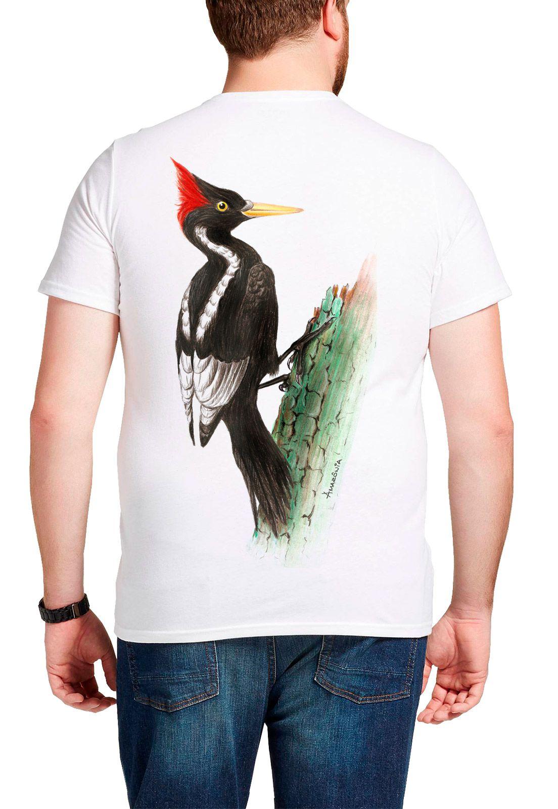 Camiseta Amazônia Pica Pau - Branco