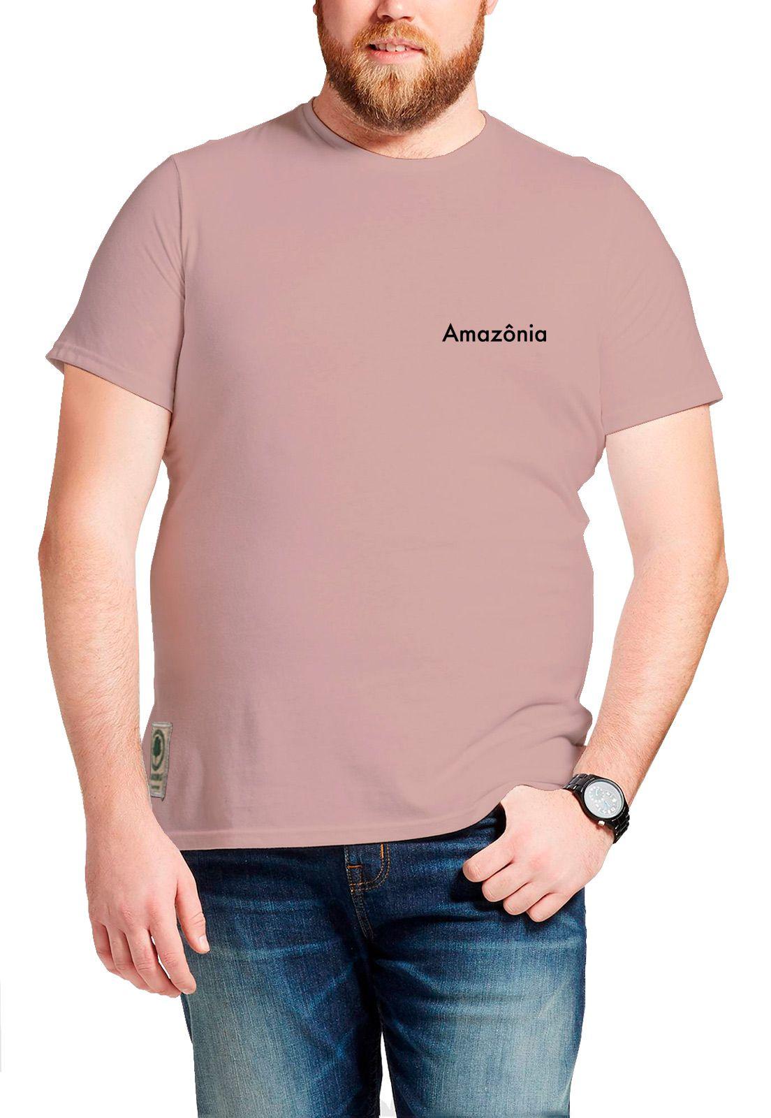 Camiseta Amazônia Pica Pau - Rosa