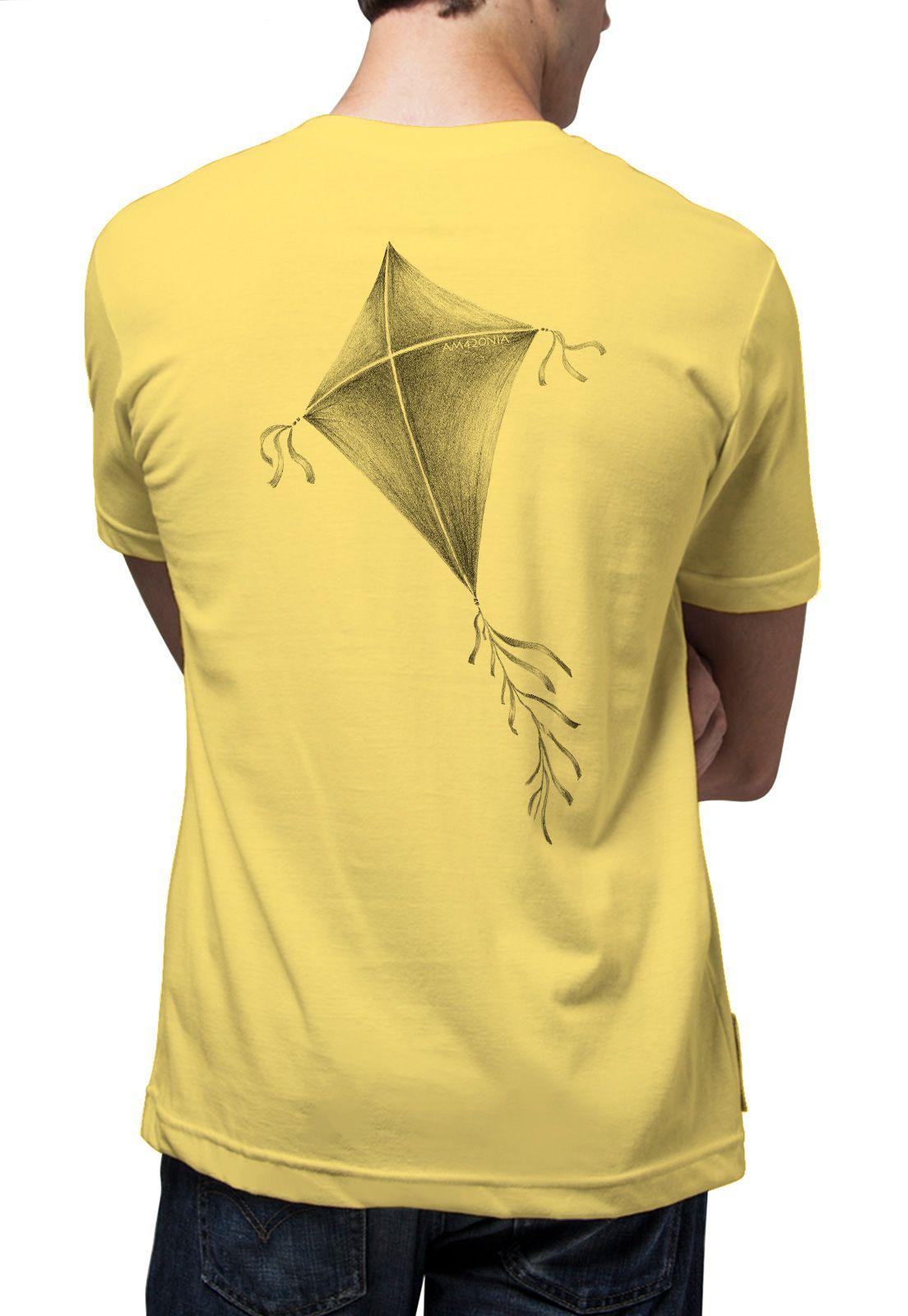 Camiseta Amazônia Pipa - Amarelo