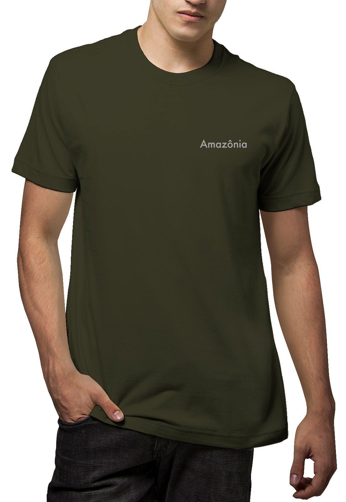 Camiseta Amazônia Plante Uma Árvore - Verde Escuro