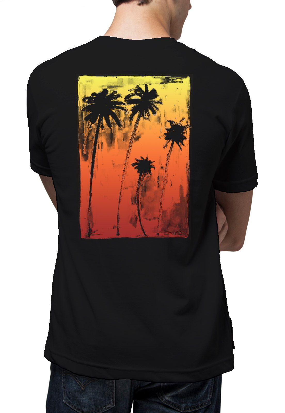 Camiseta Amazônia Praia da Bahia - Preto