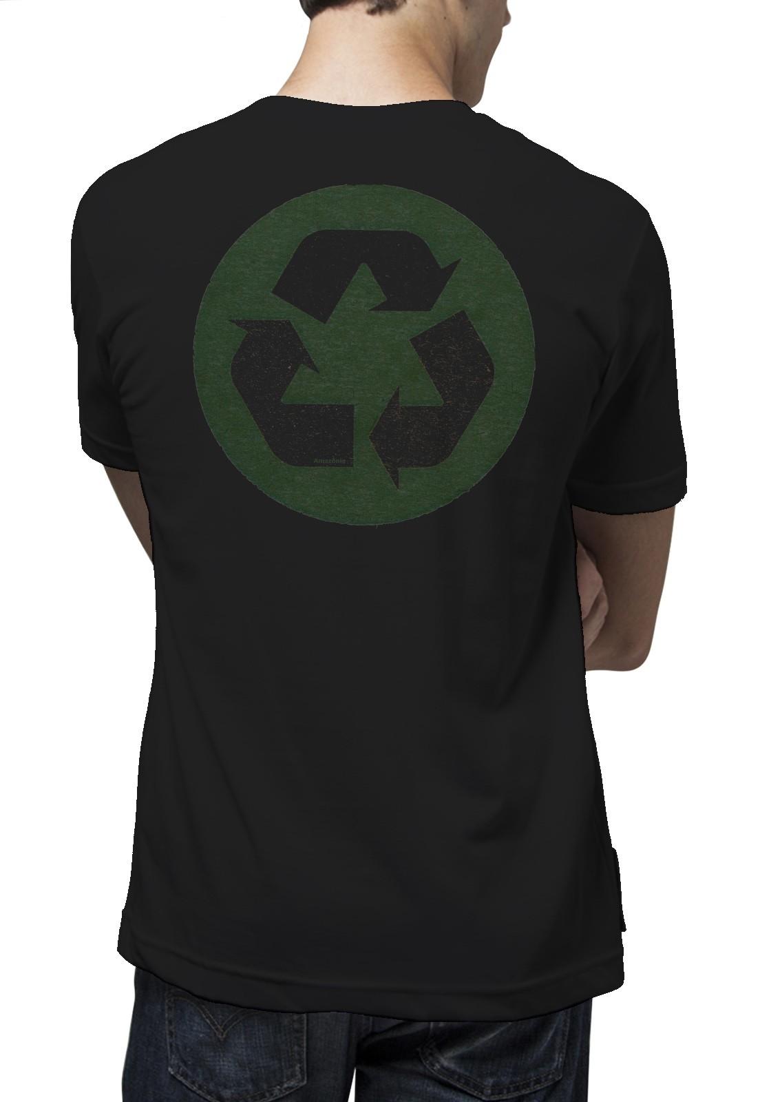 Camiseta Amazônia Reciclável - Preto