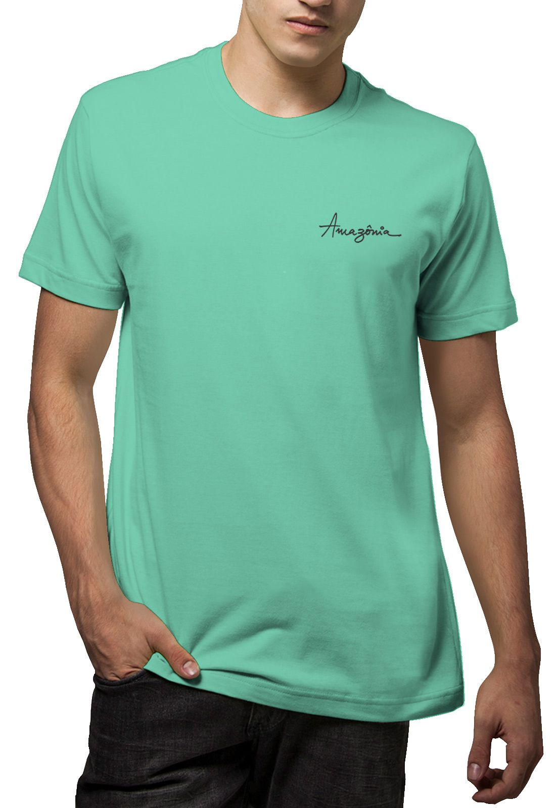 Camiseta Amazônia Semeando a Natureza - Verde Claro