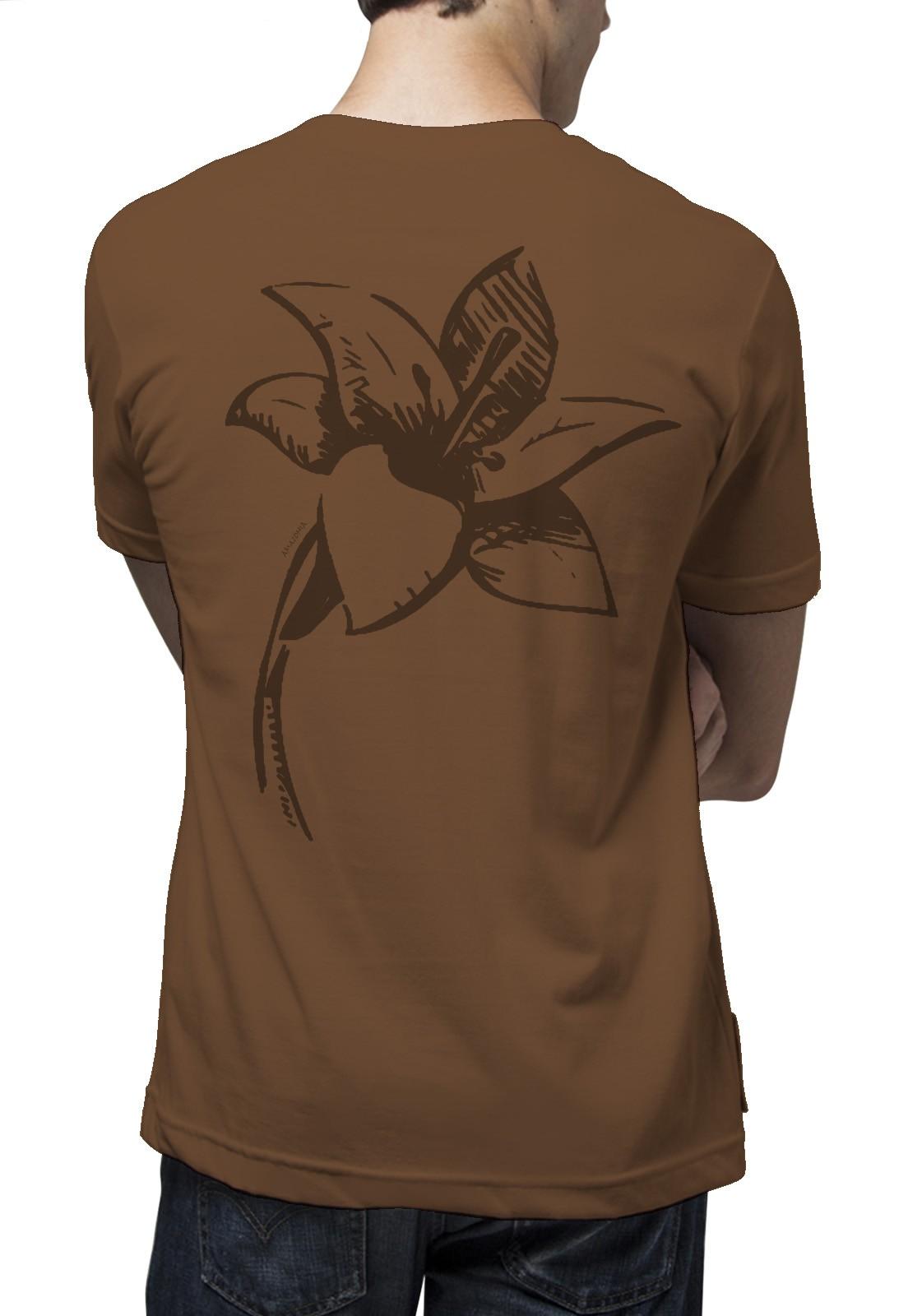 Camiseta Amazônia Simplicidade - Marrom