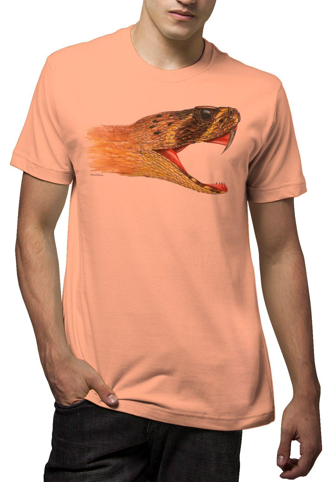 Camiseta Amazônia Snake - Salmão Escuro