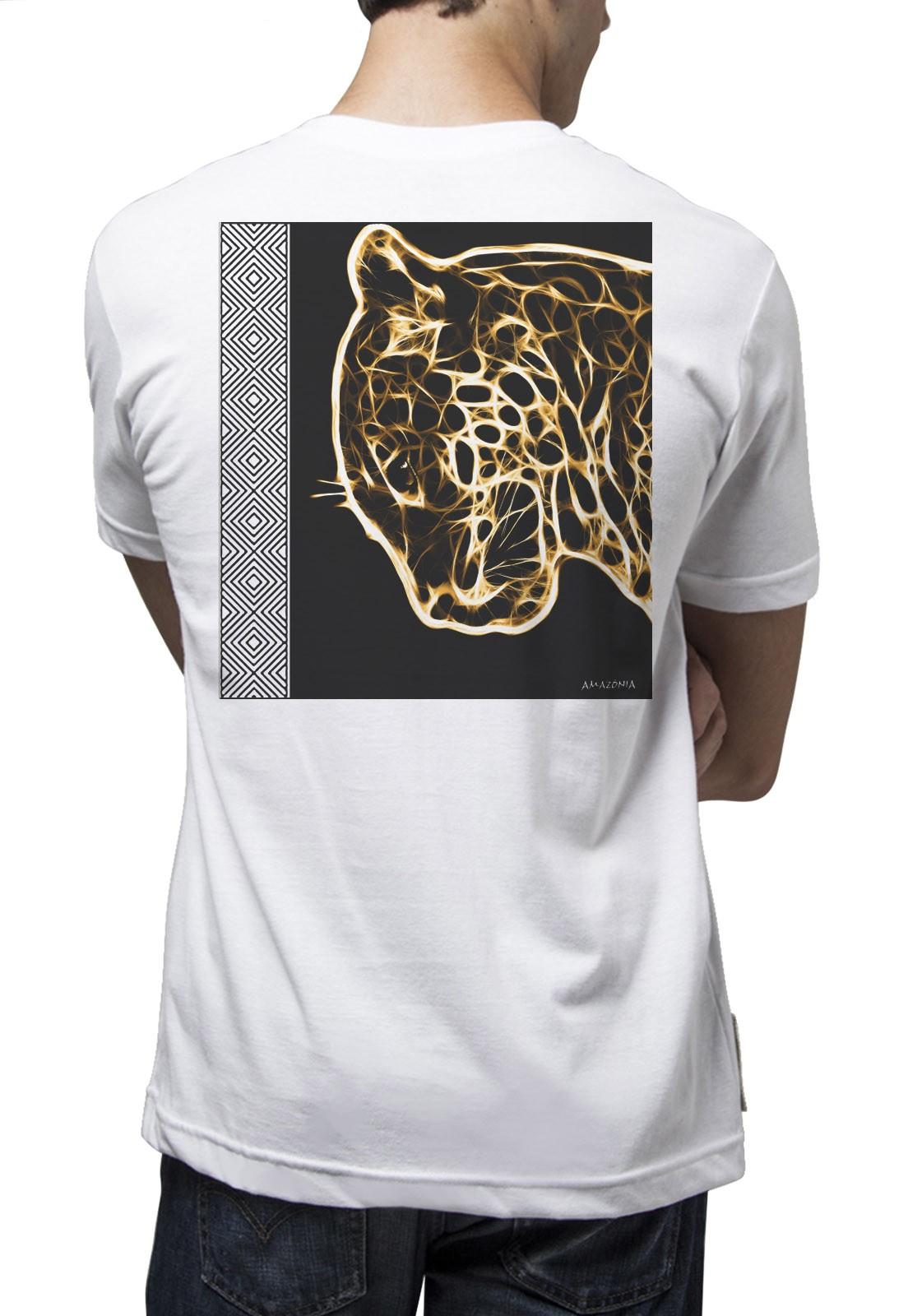 Camiseta Amazônia SOS Natureza - Branco