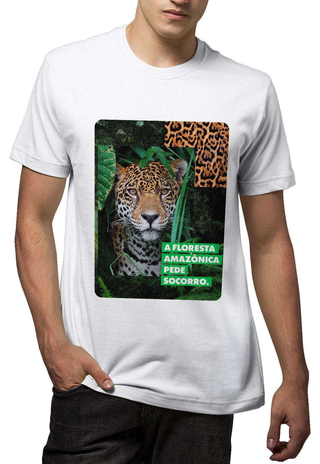 Camiseta Amazônia Índio Arco e Flecha - Verde Escuro